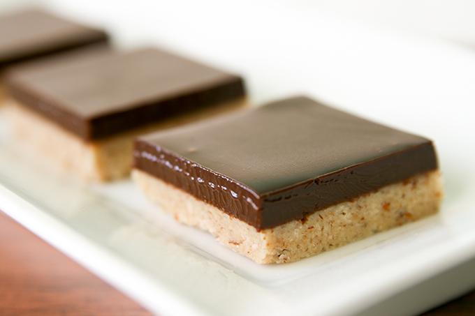 Mandelbitar med Chokladganache | Baker vs. Runner