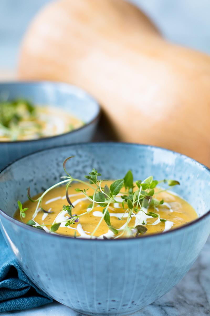 Butternut Squash Parmesan Soup | Baker vs. Runner
